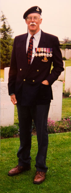 Oliver at the 1994 D-Day Remembrance
