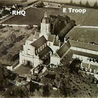 Aerial view of gun positions for E and F Troop