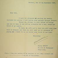 Letter from Willy Dumont