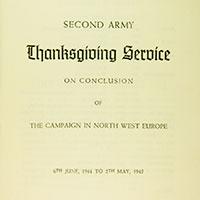Thanksgiving Service title page